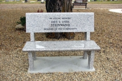 Granite Memorial Bench from Kootenay Monument Installations