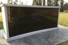 The finished columbarium: 80-Niche Curved Rectangle from Kootenay Monument Installations