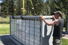 Columbaria from Kootenay Monument start with an engineered aluminum structure and niche system.