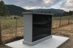 1-sided - 24 niche Custom Columbaria installed by Kootenay Monument Installations