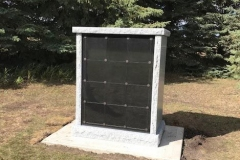 2-sided - 24 niche Custom Columbaria installed by Kootenay Monument Installations