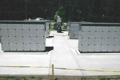 Two KMI R 48 Custom Columbaria installed by Kootenay Monument Installations as additions to an existing cemetery garden