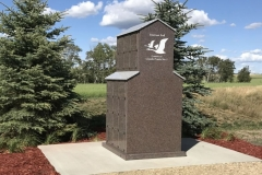36-NIche Custom designed Grain Elevator Columbaria in Grande Prairie, AB installed by Kootenay Monument Installations