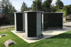 Custom Columbaria Gardens installed by Kootenay Monument Installations