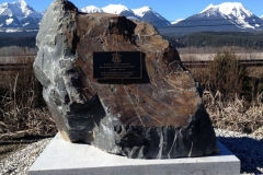 Dedication Plaque: Burges James Gadsden Provincial Park - provided and installed by Kootenay Monument Installations