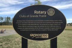 100 plaques supplied by Kootenay Monument Installations for the  City of Grande Prairie's 100th Anniversary