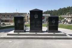 Cenotaph in downtown Kimberley, BC, provided and installed by Kootenay Monument - back view