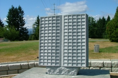 Kootenay Monument Installations offers Memorial Books in various sizes from 150 spaces to 300 spaces. The Memorial Book pictured here has 150 spaces.