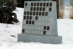 Memorial Wall in Wasa, BC. Many different options are available for Memorial Walls.