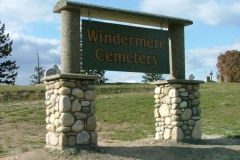 Cemetery Sign at Windermere Cemetery - provided and installed by Kootenay Monument Installations